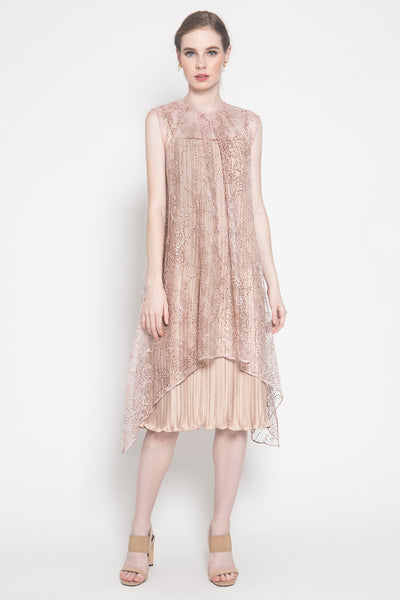 Amber Dress in Dusty Pink