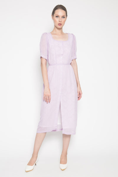 Romane Dress in Lilac Plain
