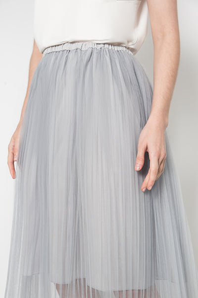Ruh Pleated Skirt in Grey