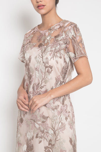 Lily Dress in Dusty Pink