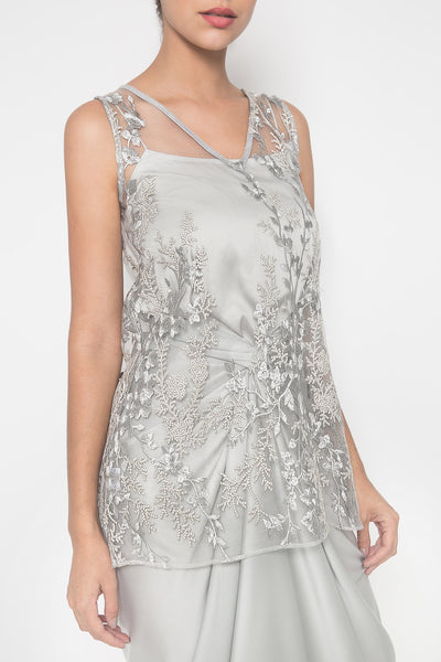 Jasmine Sleeveless Top in Grey