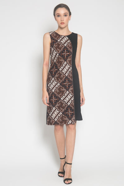 Aruna Dress in Brown