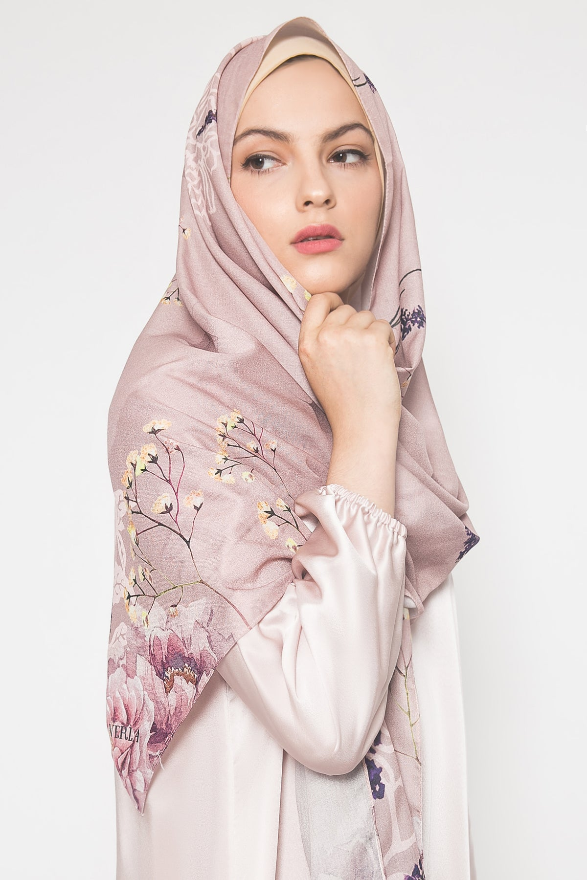 Fiona Pashmina in Dusty Pink
