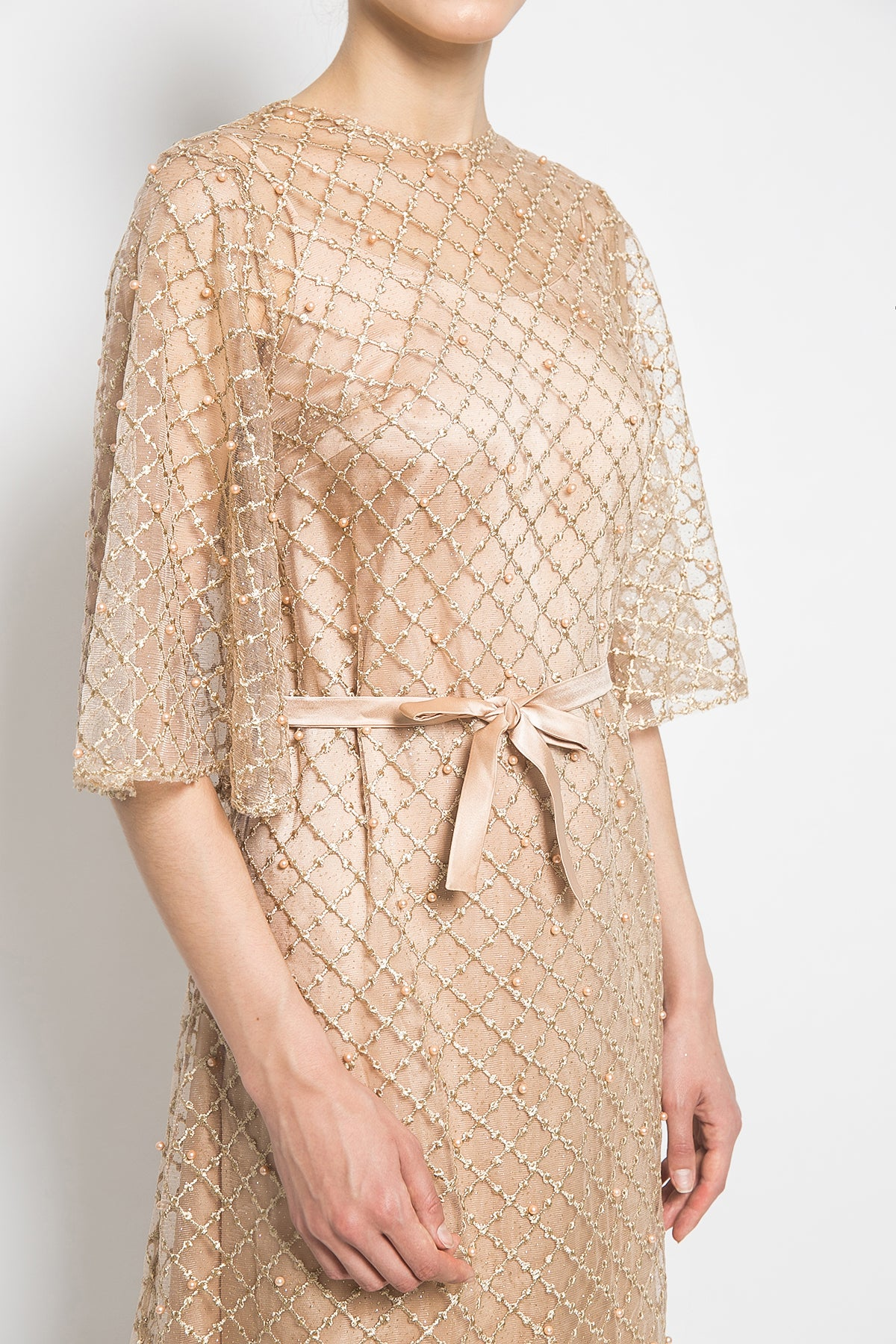 Vezzo Studio Octa Dress in Gold