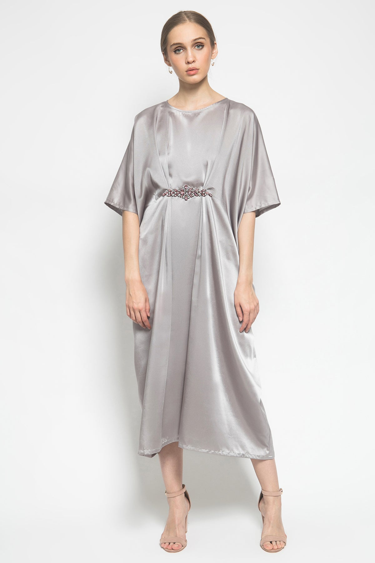 Alaya Caftan in Grey