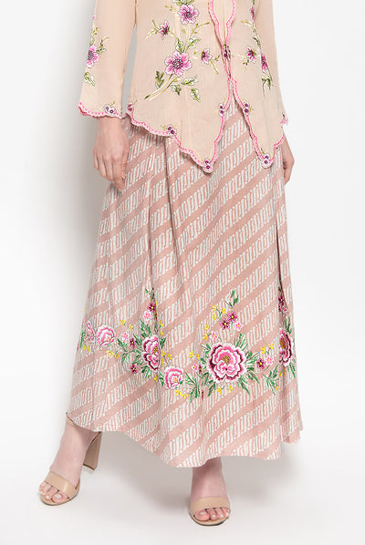 Anaya Skirt in Rose Embroidery