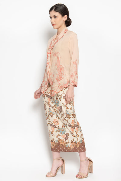 Alamanda Batik Skirt in Cream