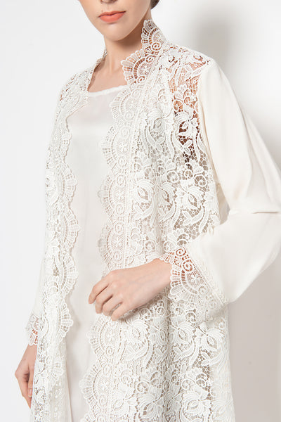Adity Outer Dress in White