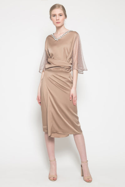 Nerra Kaftan in Brown