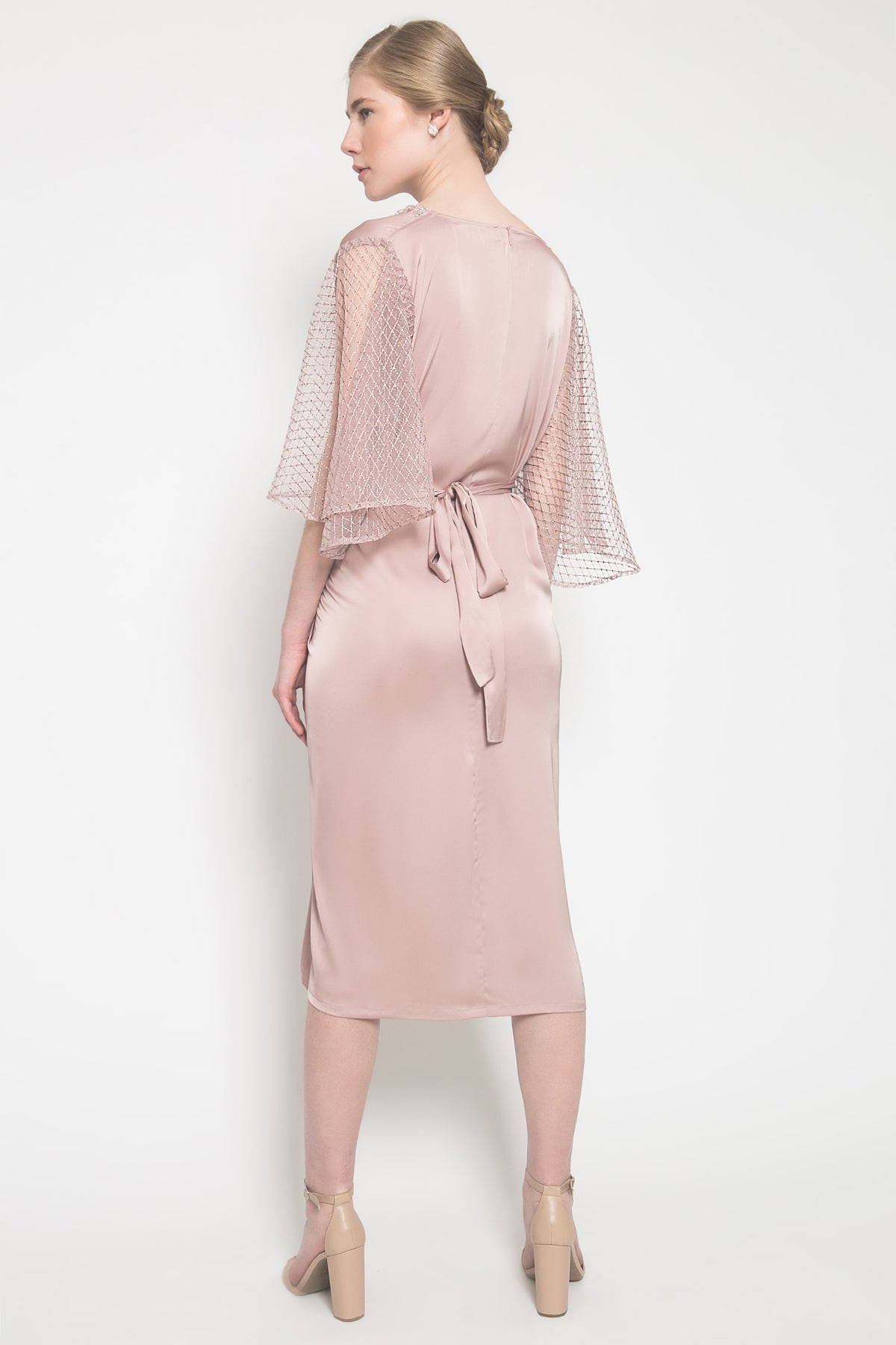 Nerra Kaftan in Mauvy Pink