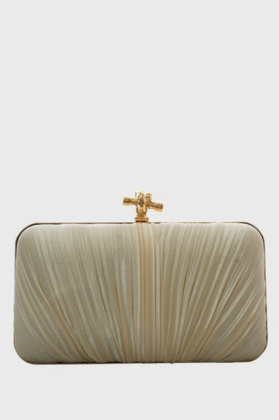 Barbara Clutch in White
