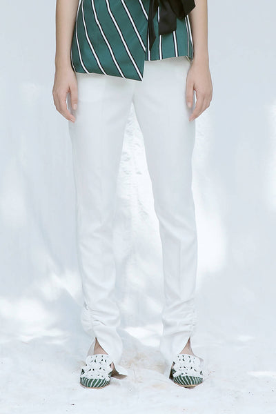 Ruched Ankle Pants