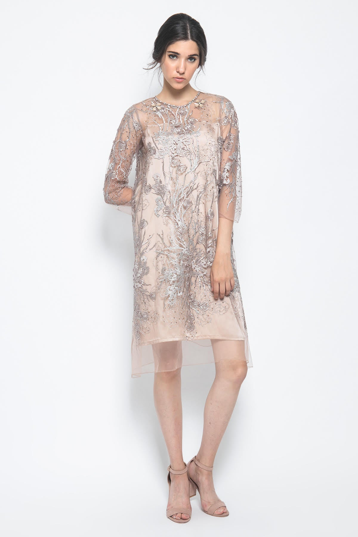 Raisa Dress in Light Brown