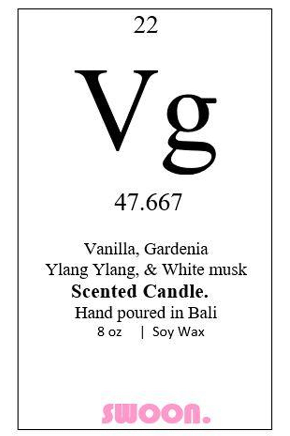 Vg Scented Candle