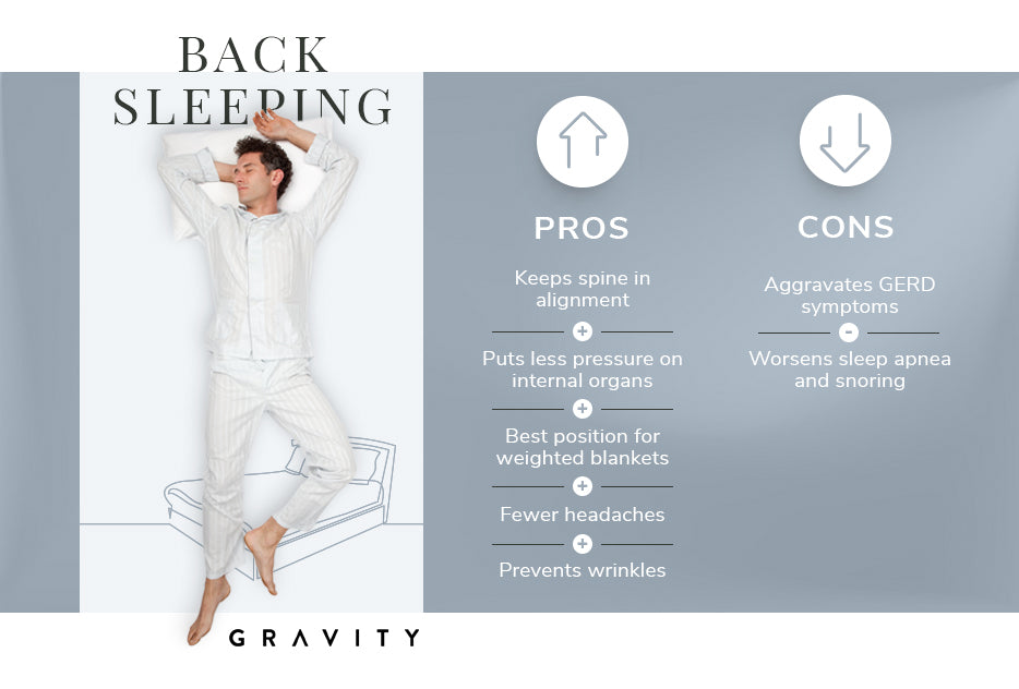 back sleeping pros and cons