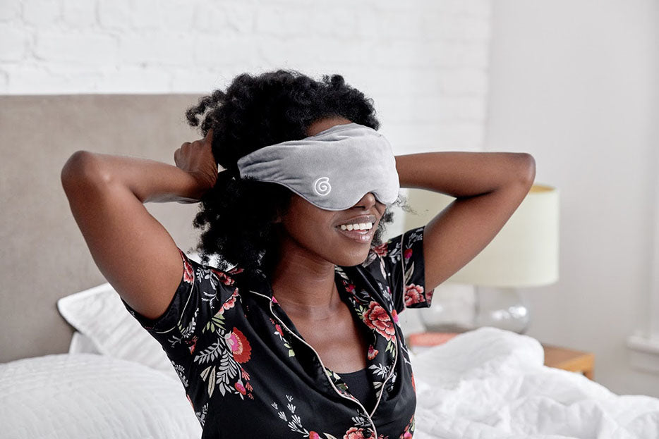 woman wearing weighted mask