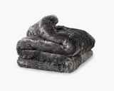 Faux Fur Duvet Cover in Grey
