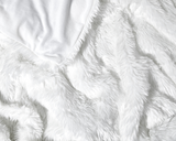 Upclose photo of Faux Fur Duvet Cover in White