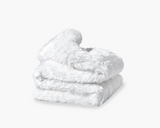 Faux Fur Duvet Cover in White