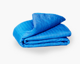 Calm and Gravity Travel Blanket in Calm blue
