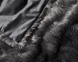 upclose photo of Faux Fur Duvet Cover in Grey