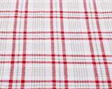 Red Plaid fabric upclose