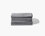 folded Gravity Bamboo Sheets in grey