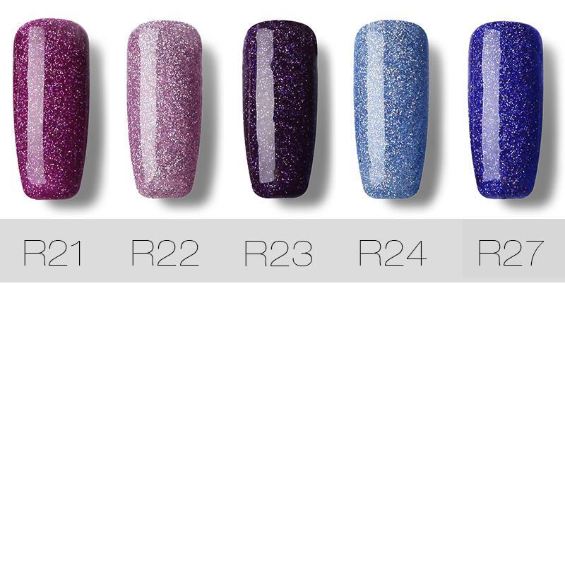 Rosalind 7ml Long Lasting Glitter Nail Polish - WarPaintz
