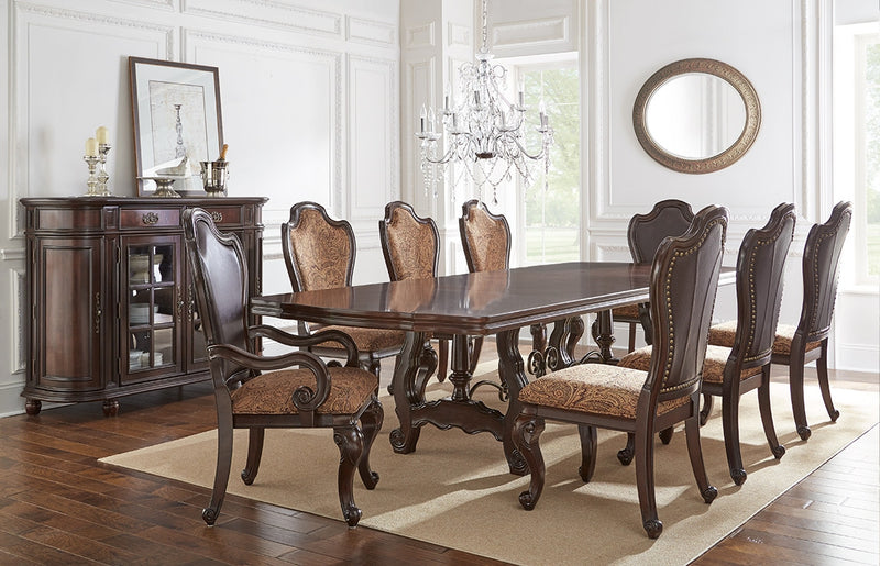 Elegant Large Scale Traditional Dining With Angelina Double Pedestal
