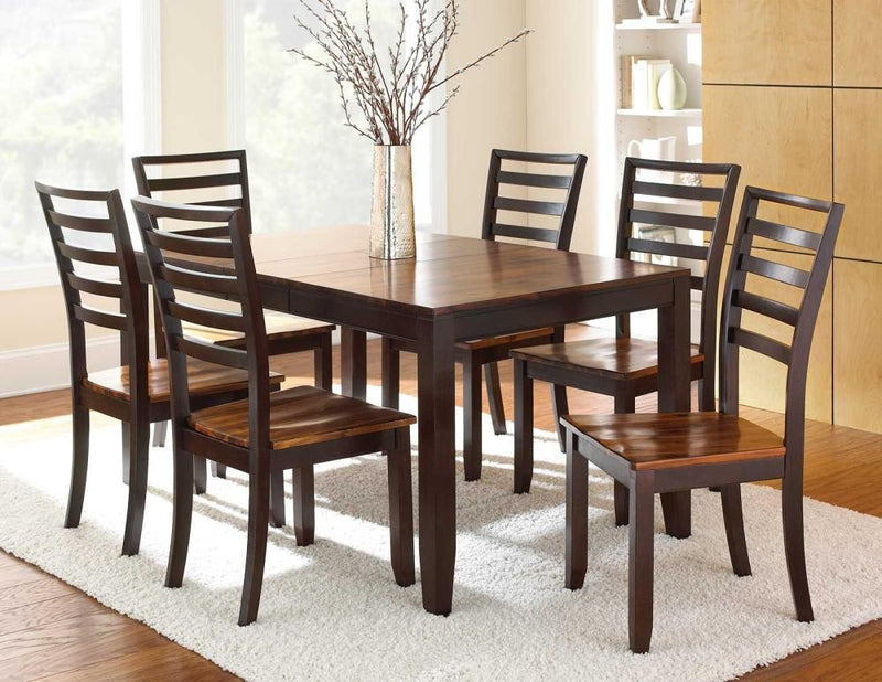 Abaco 54 Counter Dining Room Set With Butterfly Leaf 4 Chairs