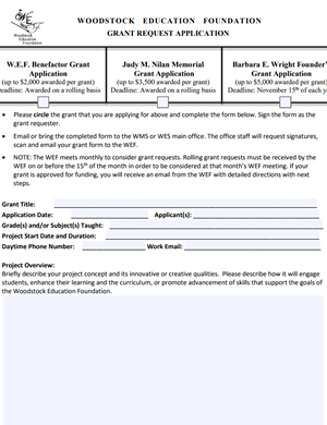 Grant Application Form