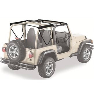 How to Install 19972006 Jeep Wrangler TJ OEM Soft top Hardware
