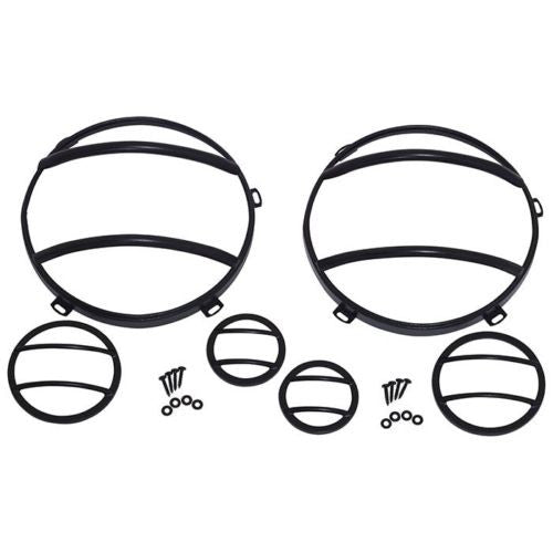 Kentrol 80013 Headlight Guards & Marker Cover Set JEEP Wrangler JK Stainless 07-