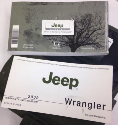2009 Jeep Wrangler JK User Guide Owner's Manual & Case