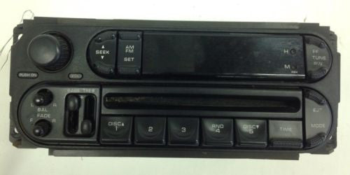 Jeep WRANGLER OEM Chrysler Dodge  Radio 02-07 AM FM CD Player