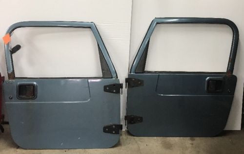 Jeep Wrangler TJ Full Steel Doors 97-06 Glass Roll Up Windows Grey Tan