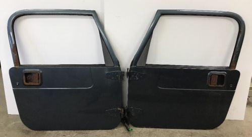 Jeep Wrangler TJ Full Steel Doors 97-06 Glass Roll Up Windows Slate Grey Agate