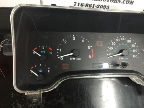 97-00 JEEP WRANGLER TJ SPEEDOMETER Gages Metric KM Gauges  We Program Odometer