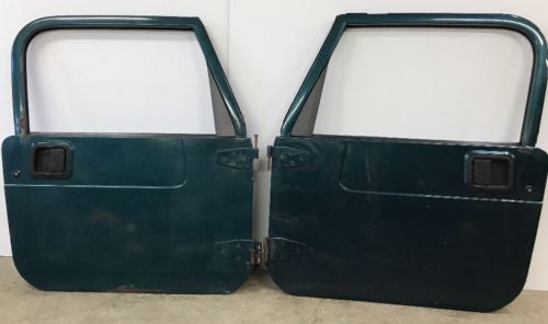 Jeep Wrangler TJ Full Steel Doors 97-06 Glass Roll Up Windows Green Grey