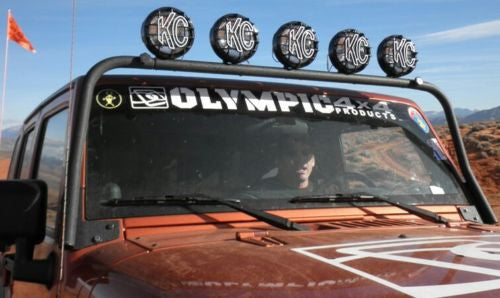 Olympic 4X4 803-174 - Maxi Light Bar for JK & Unli JK 4 Door 07-16 -TX Black
