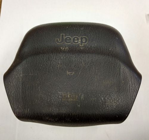 99-02 Jeep Wrangler TJ Black Driver Wheel Airbag Air Bag OEM