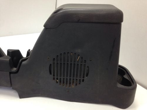 OEM Jeep Wrangler TJ Center Console Cup Holder Full Length Gray Subwoofer 97-06