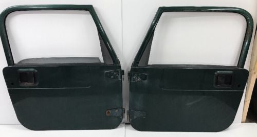 Jeep Wrangler TJ Full Steel Doors 97-06 Glass Roll Up Windows Green