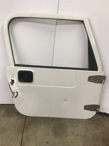 Jeep Wrangler TJ Full Steel Door 97-06 1997-2006 Glass White Passenger Only