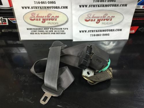 Driver Side Front Male Seat Belt, Jeep Wrangler TJ, 1997-2006 OEM LEFT Driver's