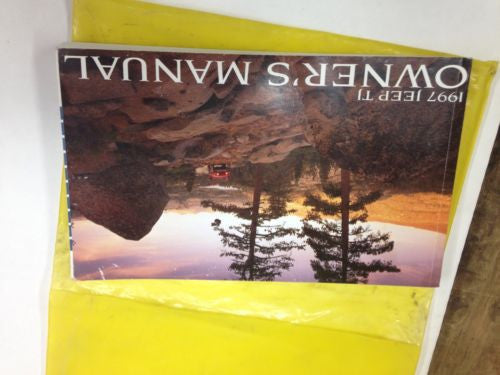 1997 Jeep Wrangler TJ User Guide Owner's Manual & Case