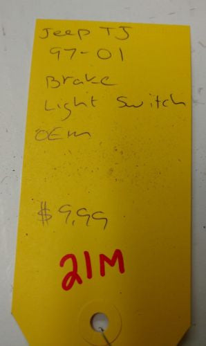 1997-2001 Jeep Wrangler TJ Brake Light Switch OEM
