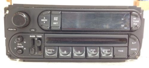 Jeep WRANGLER TJ OEM Chrysler Dodge  Radio 03-06 AM FM CD Player