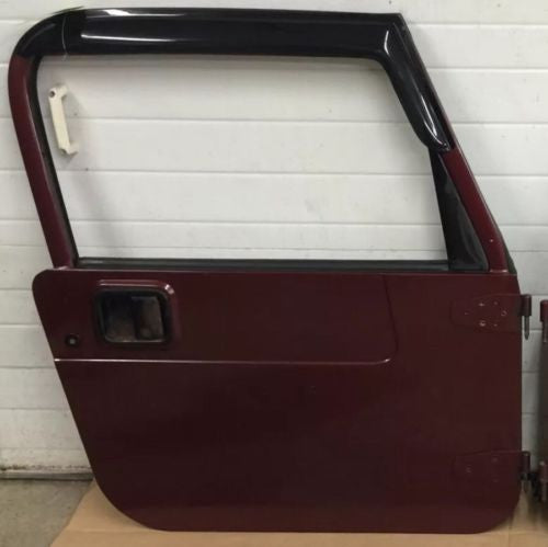 Jeep Wrangler TJ Full Steel Door 97-06 Glass Roll Up WU7 Sienna Pearl Passenger