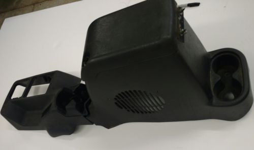 OEM Jeep Wrangler TJ Center Console Cup Holder Full Length Gray Subwoofer 2003